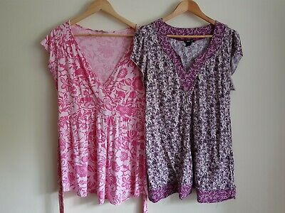 H&M Mama Size XL and New Look maternity Size 16 blouse top bundle (2 items)