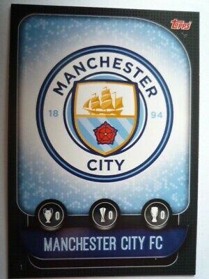 Match Attax 2019/20 Manchester City Club Badge Base Card Comb Post