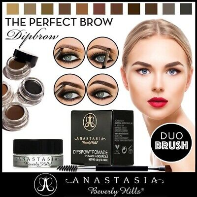 Anastasia Beverly Hills Dipbrow Eyebrow Pomade Eye Brow Makeup Duo Brush UK ❤️