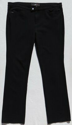 RLX RALPH LAUREN Women's Pants Stretch Ponte Knit Straight Leg Black size L