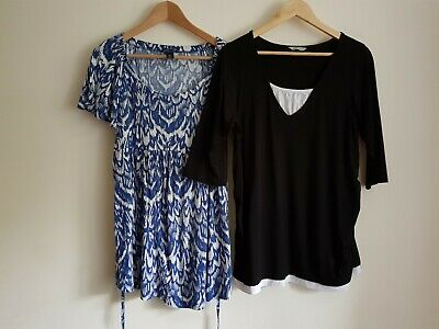 H&M Mama Size XL and M&S Size 16-18 maternity t-shirt top bundle (2 items)