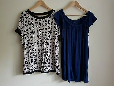 Next Size 16 and Gap Size L maternity short sleeve t-shirt blouse top bundle (2