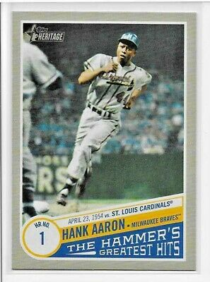 2019 Topps Heritage High HANK AARON THE HAMMER'S GREATEST HITS Insert THGH-3