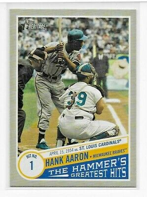 2019 Topps Heritage High HANK AARON THE HAMMER'S GREATEST HITS Insert THGH-12