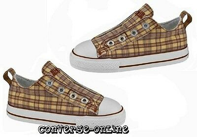 KIDS Boys Girls CONVERSE All Star Brown Slip On Low Trainers Shoes UK SIZE 9