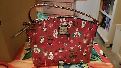 Disney Theme Parks 2019 Dooney and Bourke Holiday Christmas Crossbody Purse-New