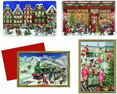 Coppenrath 'Around the Town Selection of Little Advent Calendar Cards' Pack of 4