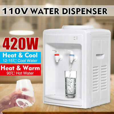 420W 110V  Electric Water Dispenser Heater Cooler Warm Hot Cold Purifier Home 2L