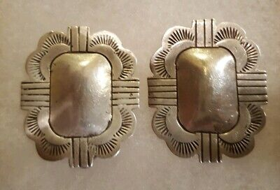 Navajo Sterling Silver Earrings by Vincent James Platero VJP Native American 925