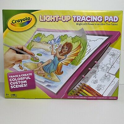 Crayola Light Up Tracing Pad Bright LED Power Ultra Thin Hot Christmas Toy Pink
