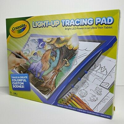 Crayola Light Up Tracing Pad Bright LED Power Ultra Thin Hot Christmas Toy Blue