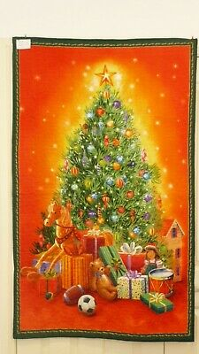Handmade patchwork Quilt. Christmas tree panel (#44)