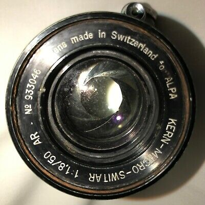 Kern-Macro Switar Lends 1 1.8/50 AR #933046 Made in Switzerland ALPA