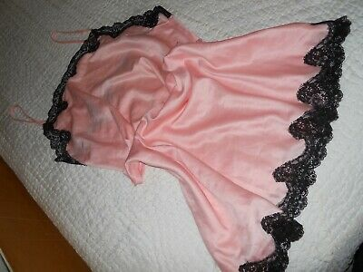 Bras And Things...apricot Slip With Black Lace Slip...size 16