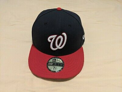 MLB Washington Nationals Baseball Cap NEW ERA 59FIFTY Mens Fitted Hat Sz 7 1/4