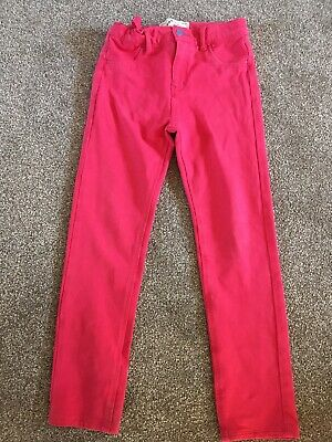 Fat Face Girls 8 Years Pink Jersey Jegging Trousers