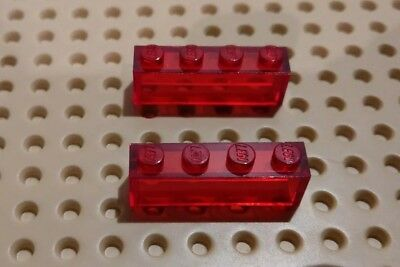 2x LEGO 1x4x1 CLASSIC SPACE Pre owned TRANSPARENT/ Red 3010 BRICK  FREE UK POST