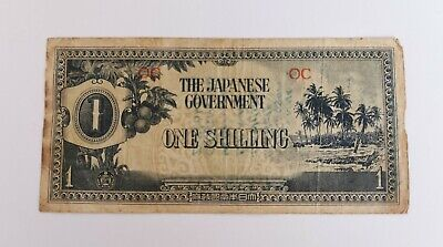 Japanese Government One Shilling Banknote Occupation Currency Aussie Souvenir