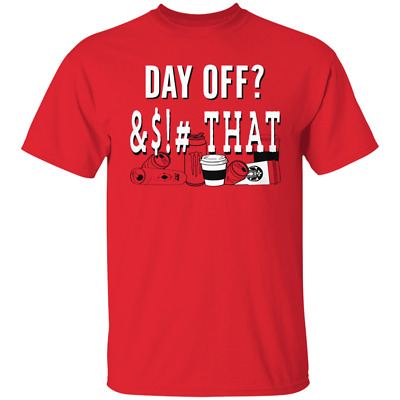 Men's Washington Nationals DAY OFF THAT Red T-shirt FULL SIZE FREE SHIPPING
