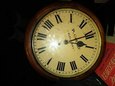 Antique  . Fusee wall   clock .  By P Gauld Pitlochry In Working Order