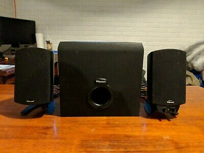 Klipsch ProMedia 2.1 Channel Computer Speaker - Black, Bluetooth