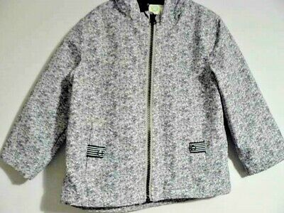 Llittle Me Boys Grey Hooded Coat Jacket Showerproof Lined To Fit Age 2 New