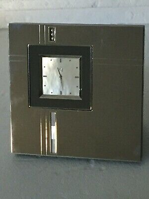 A Wonderful Table Clock Made Of Mother Of Pearls Chrome Plate Dated 2008