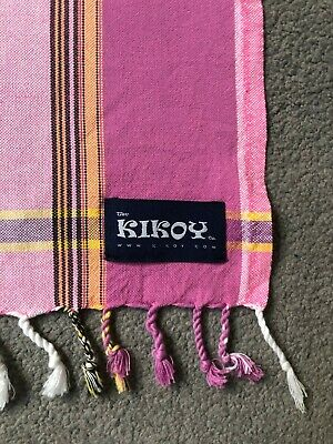 NEW Kikoy pink 100% Cotton Scarf Shawl Sarong Throw Towel beach - small