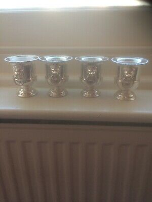 4 Viners Silver Plated Mini Urns