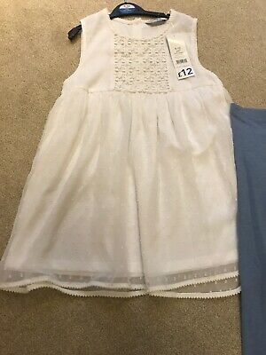BRAND NEW WITH TAGS Girls Cute Outfit Floaty White Top Blue Leggings Age 9-10