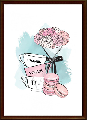 Coco Chanel Fashion Perfume Print Wall Art Home Decor Picture Dressing Room A4