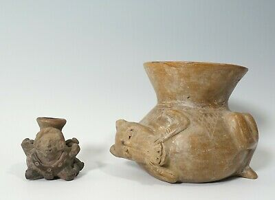 Pre-Columbian Style Anthropomorphic Bound Figure Nayarit Colima Pottery Jar LOT
