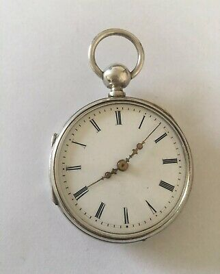Small Antique Quarter Repeater Silver Pocket Watch.