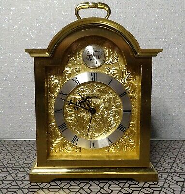16cm high Swiza 8 day brass carriage alarm clock Swiss made.
