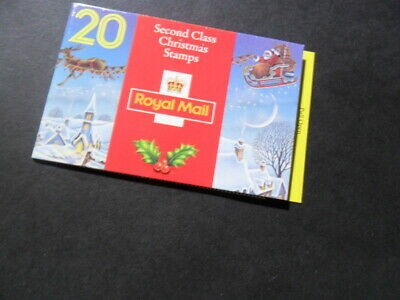 Royal Mail - Christmas 1993 Booklet of 20 Second Class Mint Stamps (FV £3.80)