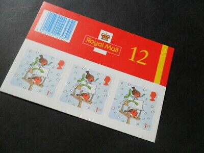 Royal Mail - Christmas 2001 Booklet of 12 1st Class Stamps (LX21)(2019 FV £8.40)