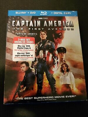 Captain America The First Avenger (2011) Blu-ray Marvel 2 Disc Set Chris Evans