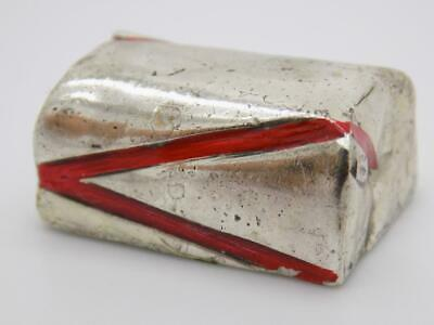 Vintage Solid Silver Italian Made LIFE SIZE Wrapped Chocolate, Hallmarked