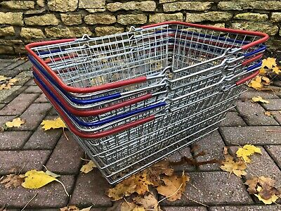 5 X Vintage Wire Shopping Baskets
