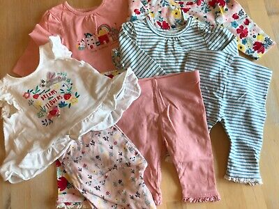 Newborn baby girl summer holiday clothes bundle Boots miniclub