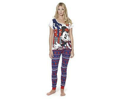 Bnwt New Ladies Disney Minnie Mouse Fairisle Pyjamas Size Xl 18 20 Xmas 16 Pjs