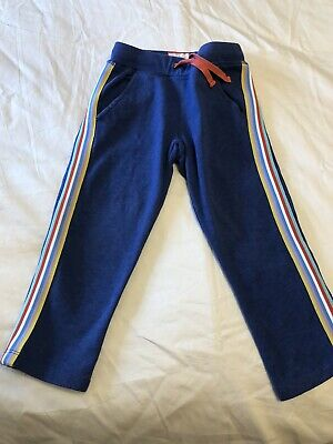 Mini Boden Rainbow Trimmed Blue Joggers Trousers Age 4 years.