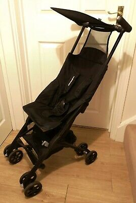 Black Mothercare Travel XSS Stroller Buggy With Carry Bag Great Condition