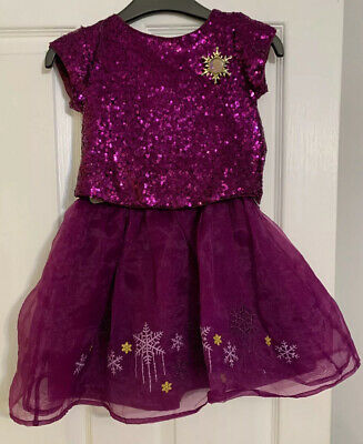 Disney Frozen Purple Sparkling Skirt And Top Age 4 Disney