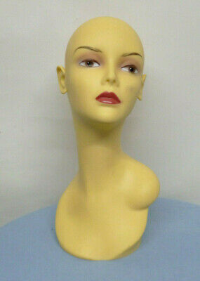 Life-size Manequin Head Jewelry Shoulders Hair Wigmakers Display Mountable
