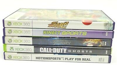 5x XBOX 360 GAME BUNDLE JOB LOT CALL OF DUTY - FABLE - KINECT SPORTS ADVENTURES