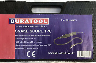 Duratool Video Snake Scope-Endoscope.