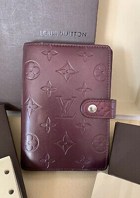 💥💥Louis Vuitton Monogram Agenda Day Planner Cover Burgundy With Refills
