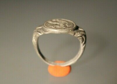 Ancient Fantastic Roman Silver Ring * Sex Scene 1st - 4th century AD