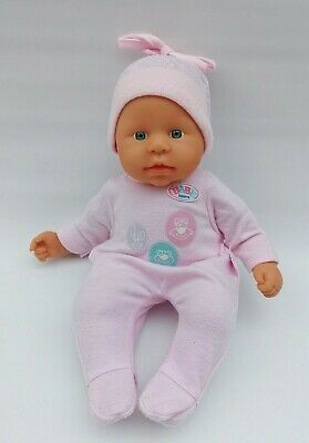 """Baby Born Doll 13"""" Blue Eyes Dressed  Zapf 2000 Good Condition"""